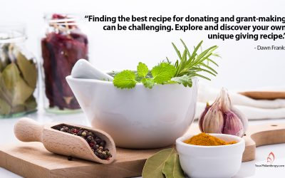 Let's Explore and Discover Your Personal Giving Recipe