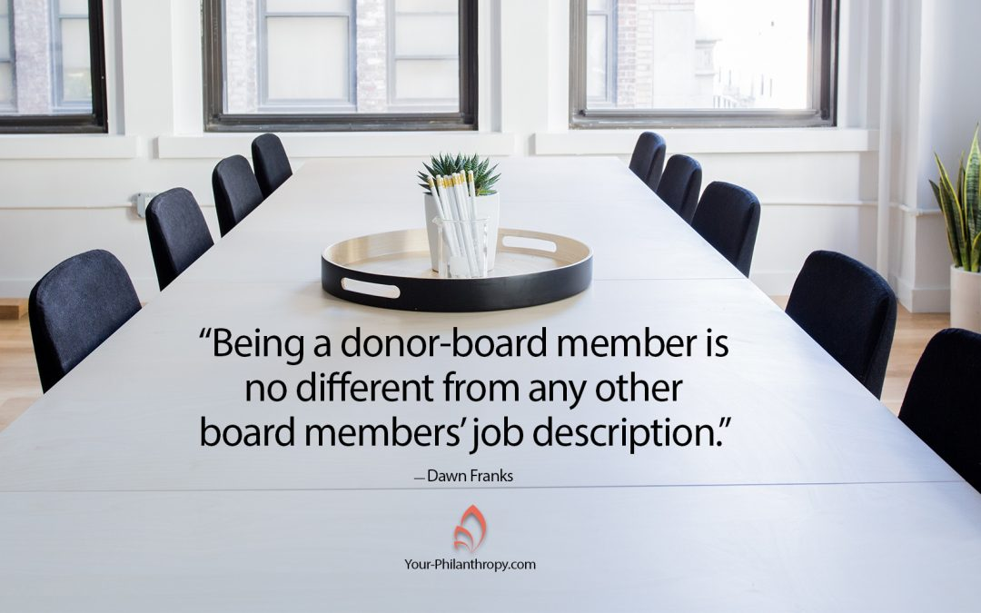 Will Board Service Make You a Better Donor?