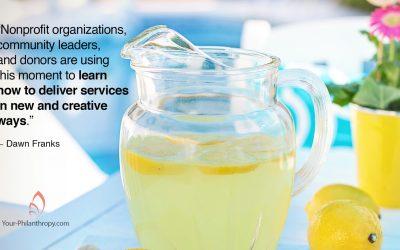 How Nonprofits Make Great Lemonade Out of Lemons