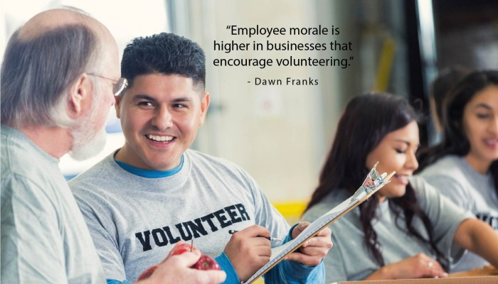 Small Business Philanthropy, Employee Volunteer, Corporate Giving, Employee Morale
